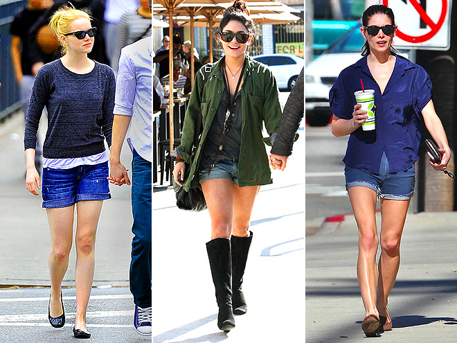 CUFFED DENIM SHORTS photo | Ashley Greene, Emma Stone, Vanessa Hudgens