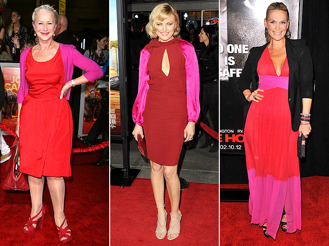 RED WITH PINK photo | Helen Mirren, Malin Akerman, Molly Sims