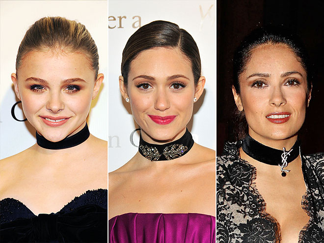 VELVET CHOKERS photo | Chloe Moretz, Emmy Rossum, Salma Hayek