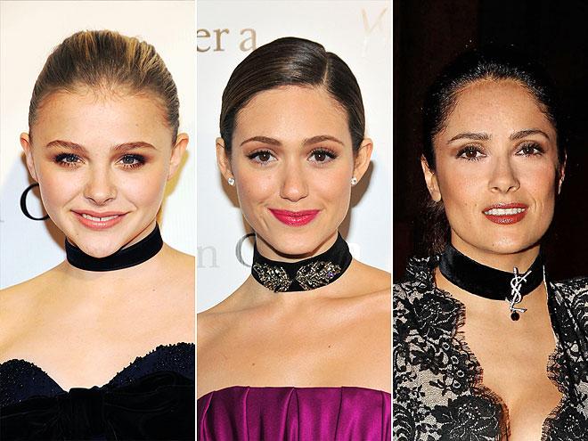 VELVET CHOKERS photo | Chloe Moretz, Emmy Rossum, Salma Hayek