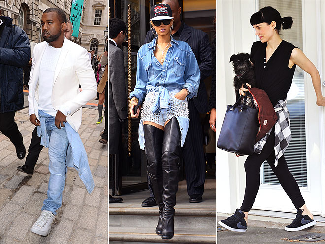 WAIST-TIED SHIRTS photo | Kanye West, Rihanna, Rooney Mara
