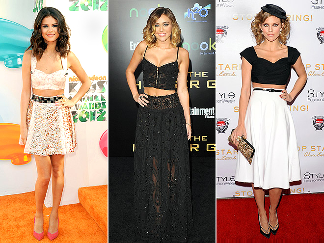 TWO-PIECE DRESSES photo | AnnaLynne McCord, Miley Cyrus, Selena Gomez