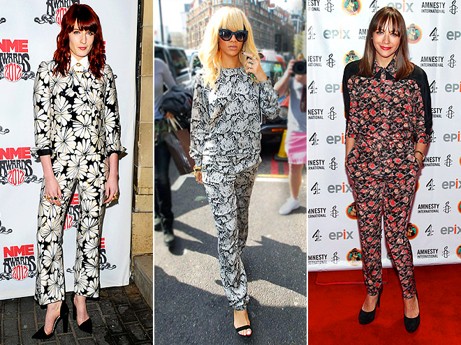 PAJAMA STYLE  photo | Florence Welch, Rashida Jones, Rihanna