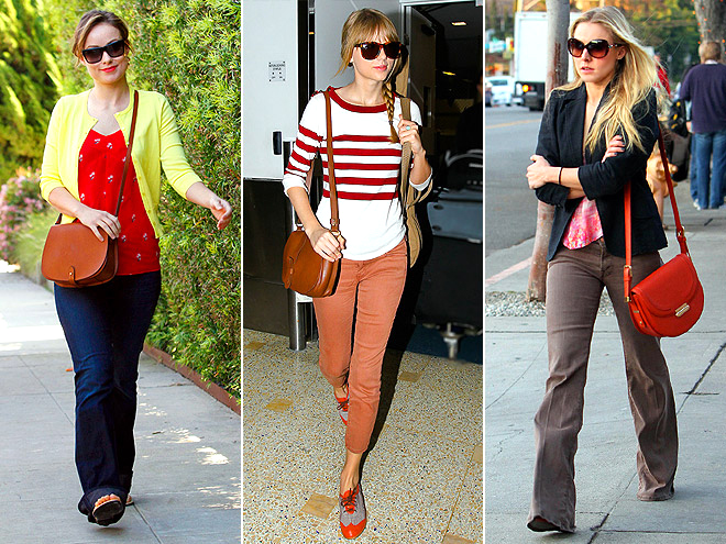 SADDLE BAGS photo | Kristen Bell, Olivia Wilde, Taylor Swift