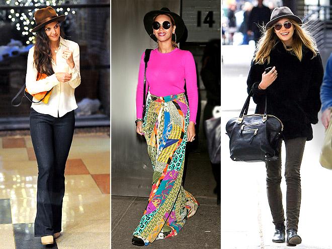 STIFF-BRIM HATS photo | Beyonce Knowles, Elizabeth Olsen, Katie Holmes