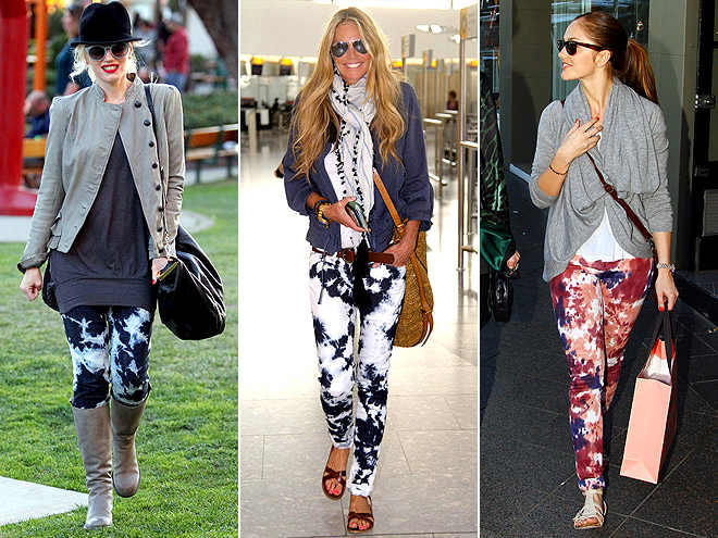 TIE-DYE JEANS photo | Elle Macpherson, Gwen Stefani, Minka Kelly
