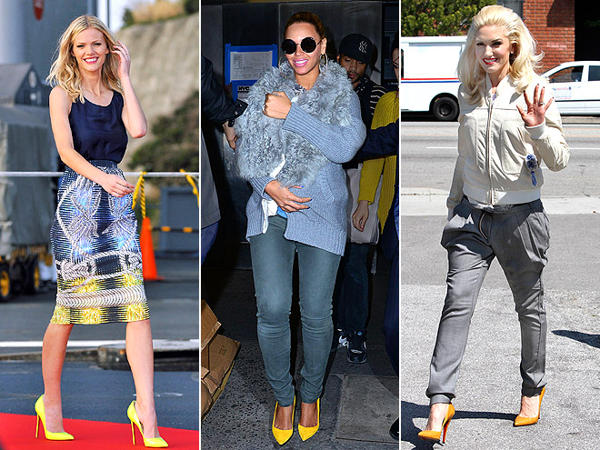 YELLOW PUMPS photo | Beyonce Knowles, Brooklyn Decker, Gwen Stefani