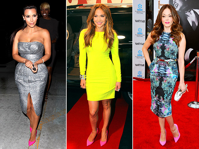 POINTY PINK PUMPS photo | Jennifer Lopez, Kim Kardashian, Rose McGowan