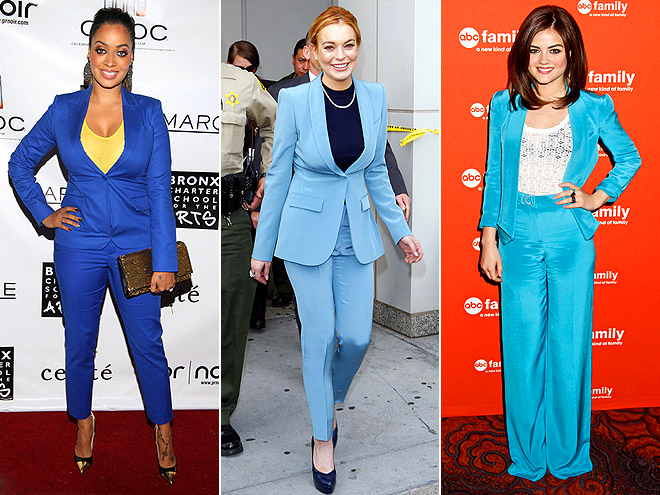 BLUE SUITS photo | Lindsay Lohan, Lucy Hale