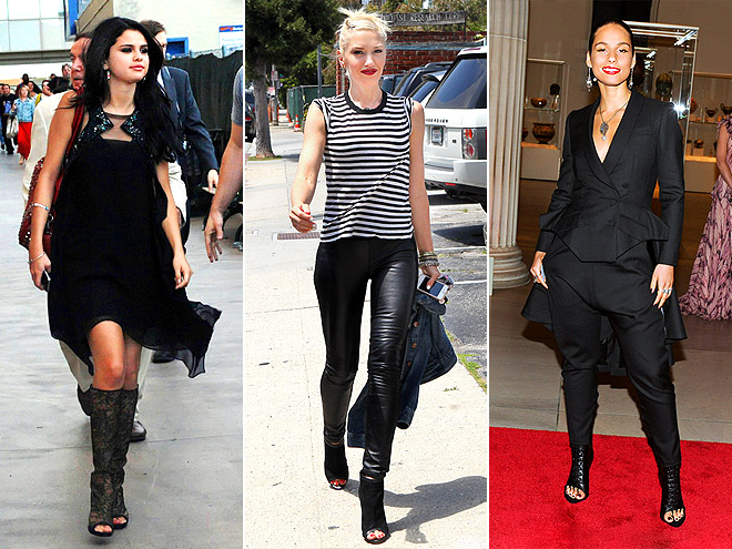 OPEN-TOE BOOTS photo | Alicia Keys, Gwen Stefani, Selena Gomez