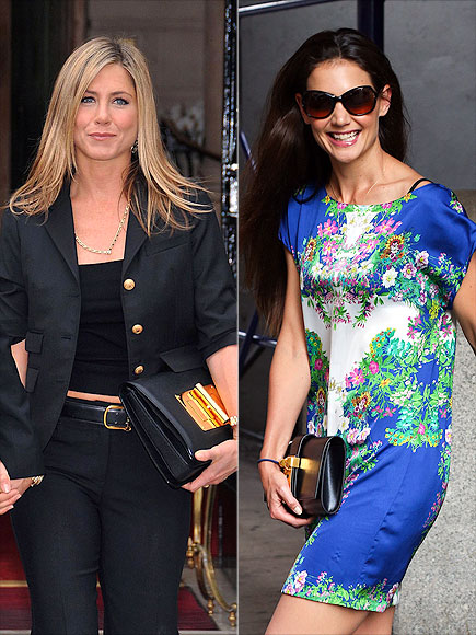 CLUTCHES WITH MAJOR HARDWARE photo | Jennifer Aniston, Katie Holmes
