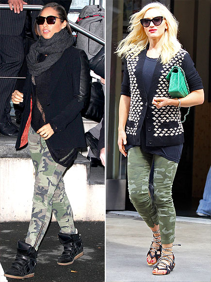 CAMO PANTS photo | Alicia Keys, Gwen Stefani