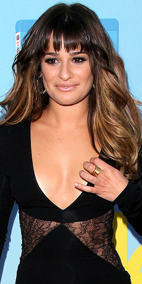 LEA MICHELE'S GOLD RING photo | Lea Michele
