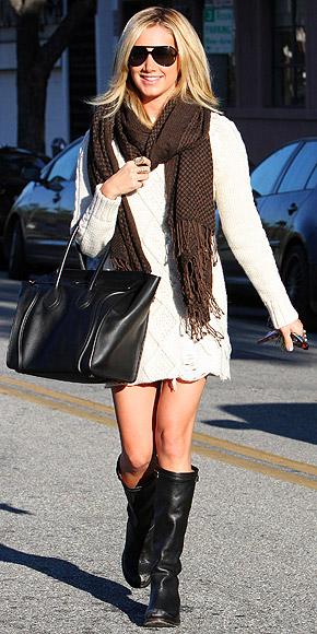 ASHLEY TISDALE'S DRESS & BOOTS photo | Ashley Tisdale