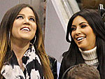 Off-Duty Hollywood: Kim Kardashian Remains Cheery at a Basketball Game