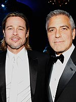 George Clooney and Brad Pitt Rule the Critics' Choice Red Carpet