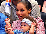 Alicia Keys and Son Egypt Cheer On the Knicks