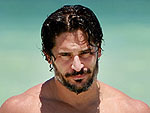 Joe Manganiello & Chris Hemsworth Cool Off with a (Shirtless) Dip | Joe Manganiello