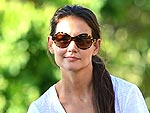 Katie Homes and Suri Take a Bike Ride | Katie Holmes