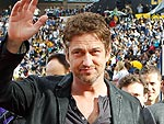 Gerard Butler Watches David Beckham in Action | Gerard Butler
