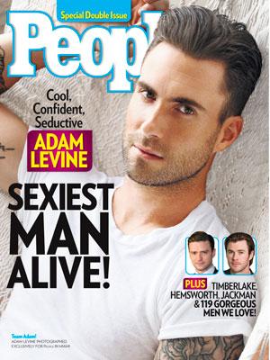 photo | Adam Levine Cover, Sexiest Man Alive, Adam Levine, Chris Hemsworth, Justin Timberlake
