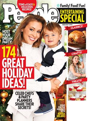 photo | Christmas, Holidays, Holiday Entertaining on Cover, Alyssa Milano