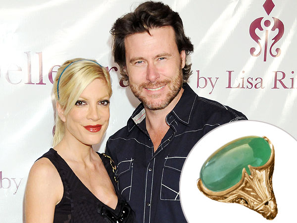 Tori Spelling's Jade and Gold Push Present