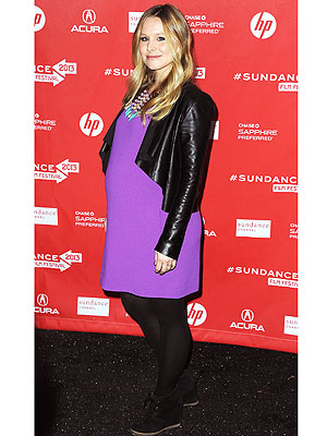 Kristen Bell Leather Jacket Look for Less