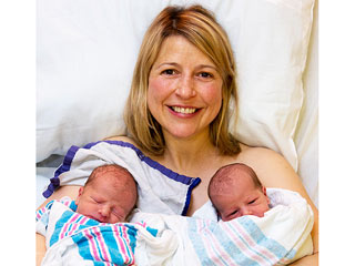 Samantha Brown Welcomes Twins