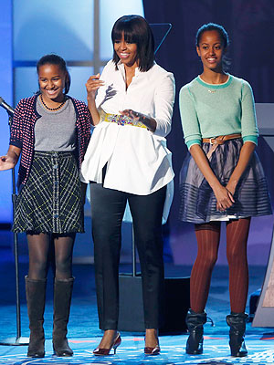 Malia and Sasha Obama's Chic Inauguration Style