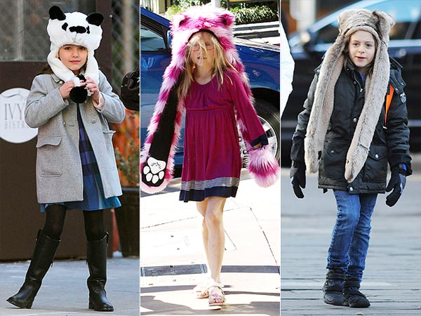 Suri Cruise Violet Affleck James Broderick Animal Hooded Hats 1 Trend 3 Ways