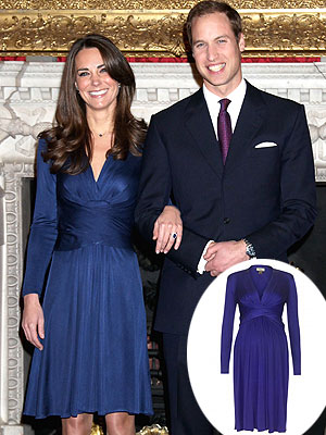 Kate Middleton Issa London Engagement Dress Maternity