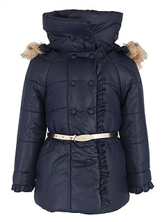 Mayoral Navy Puffer Coat Girls