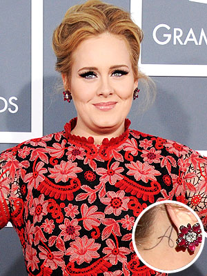 Adele Tattoo Grammy Awards
