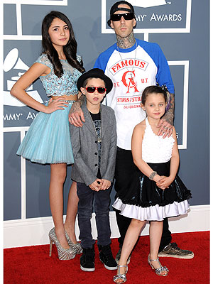 Travis Barker Kids Grammy Awards 2013