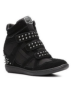 Skechers Studded Wedge Sneaker
