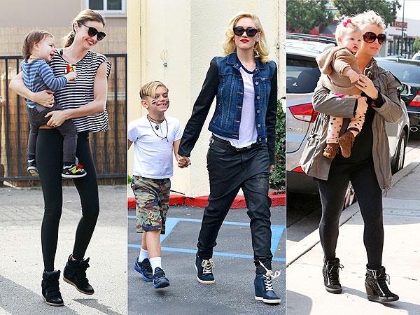 Miranda Kerr Gwen Stefani Jessica Simpson Wedge Sneakers 1 Trend 3 Ways
