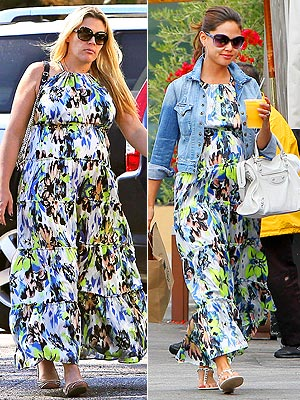 Busy Philipps Vanessa Lachey Floral Maxi T-bags Los Angeles