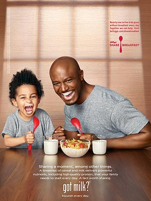 Taye Diggs Kellogg's Got Milk Campaign