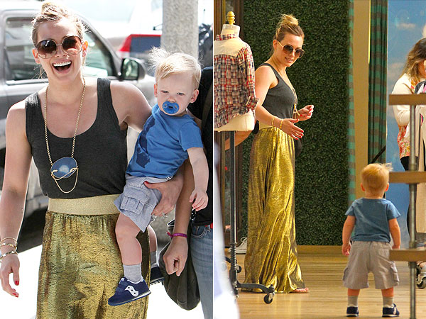 Hilary Duff Luca Splendid Shopping Spree