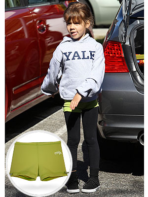 Jessica Alba Honor Warren Monkeybar Buddies Shorts Yale Sweatshirt
