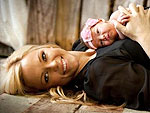 Jennie Finch Introduces Daughter Paisley