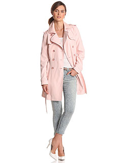Jessica Simpson Pink Double Breasted Trench