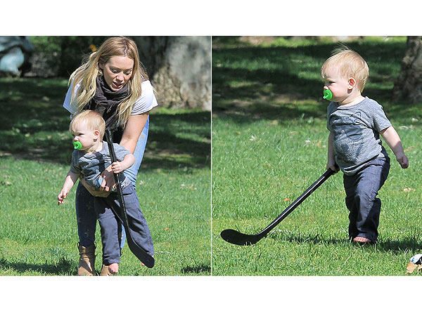 Hilary Duff Luca Comrie Hockey Park