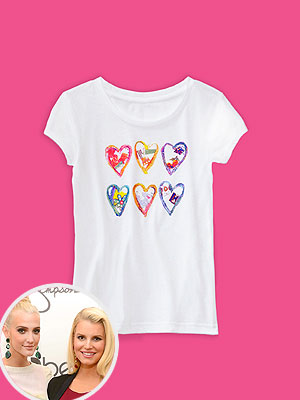 Jessica Simpson Ashlee Simpson Jessica Simpson Girls Collection Charity T-Shirt Baby Buggy<a href=