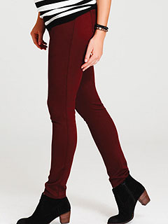 Motherhood Maternity Secret Fit Belly Skinny Jeans in Burgundy
