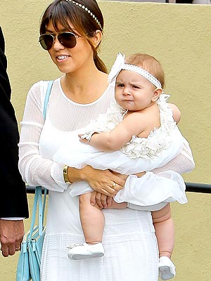 Kourtney Kardashian Penelope Disick Mischka Aoki Dress