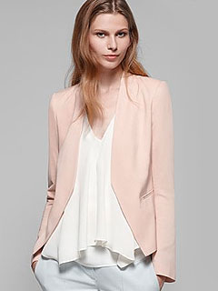 1 Trend, 3 Ways: Blush Colored Maternity Jackets – Moms & Babies ...