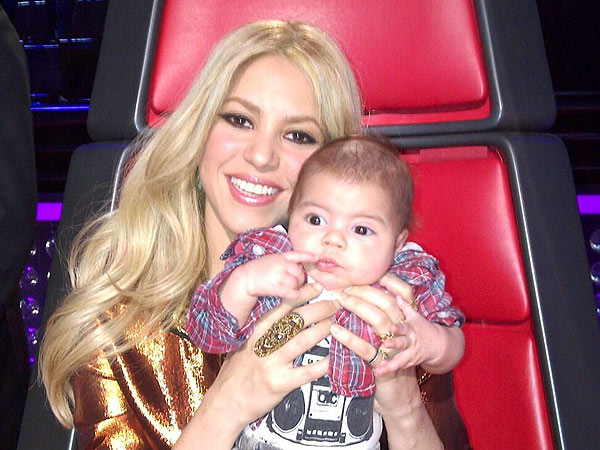 A New Judge Joins The Voice - Shakira's Son Milan!