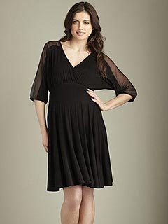 Maternal America Dolman Sheer Sleeve Dress